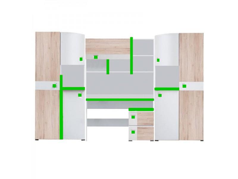 Biblioteca Colorato - Mobila Adolescenti - Baieti 290 x 197 x 40/50 cm