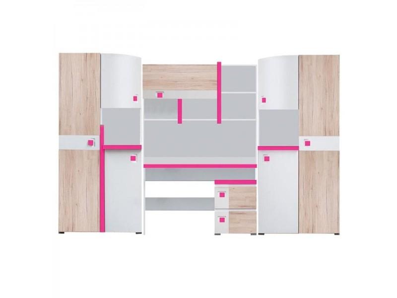 Biblioteca Colorato - Mobila Adolescenti - Fete 290 x 197 x 40/50 cm