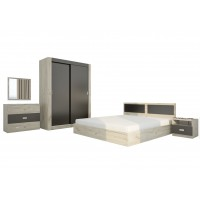 Set Dormitor Complet Katina - Sifonier + Pat + Noptiere + Comoda
